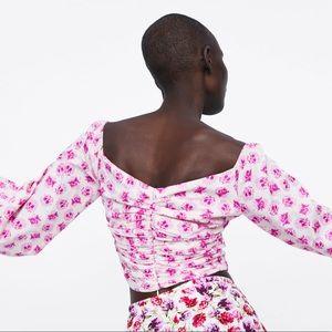 Zara Tops - NWT Zara Printed Draped Top